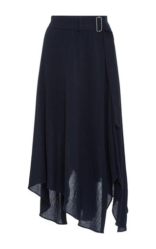 Medium a l c navy charles belted midi skirt
