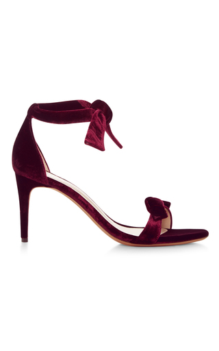 Clarita Velvet Tie Front Sandals by ALEXANDRE BIRMAN Now Available on Moda Operandi