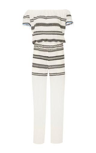 Medium lemlem white freya striped jumpsuit