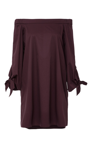 Medium tibi burgundy off the shoulder mini dress