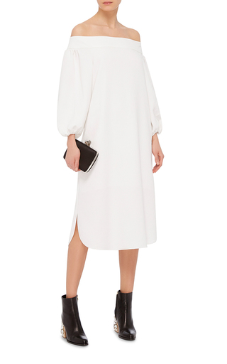 Off The Shoulder Midi Dress by TIBI Now Available on Moda Operandi