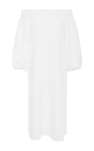 Medium tibi white off the shoulder midi dress