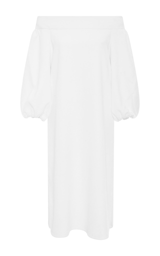 Medium tibi white off the shoulder midi dress