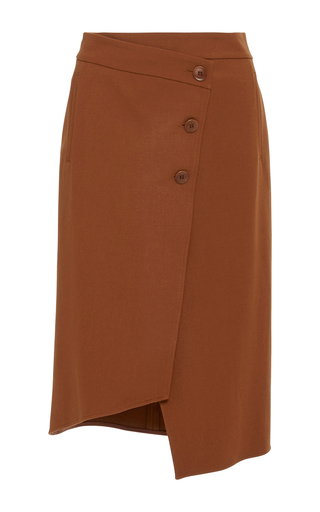 Medium tibi brown wrap skirt