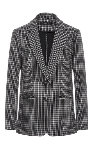 Boyfriend Gingham Suit Jacket  by TIBI Now Available on Moda Operandi