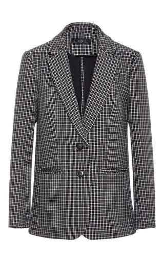 Medium tibi plaid boyfriend gingham suit jacket