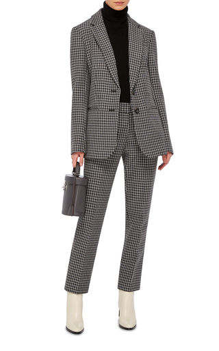 Gingham Straight Legged Pants by TIBI Now Available on Moda Operandi