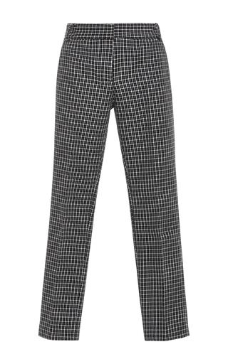 Medium tibi plaid gingham straight legged pants