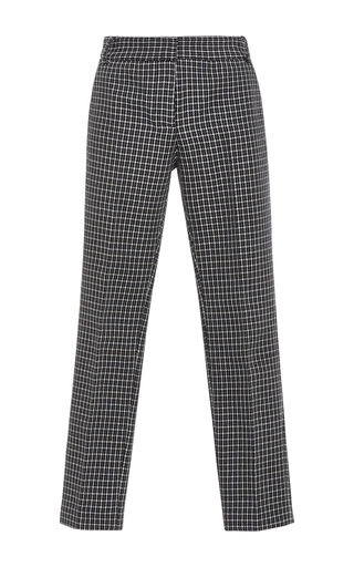 Medium tibi plaid gingham straight legged pants