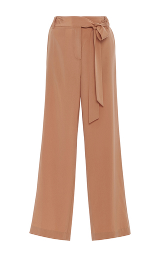 Medium tibi brown relaxed wide leg pants