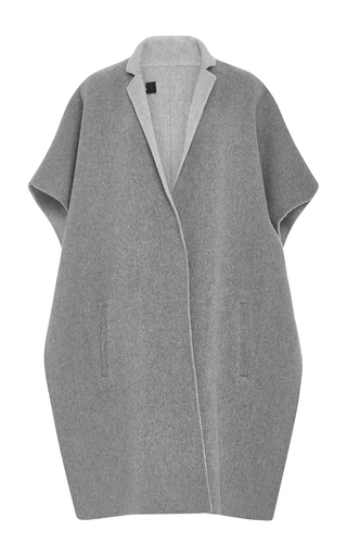 Medium tibi light grey collard cape