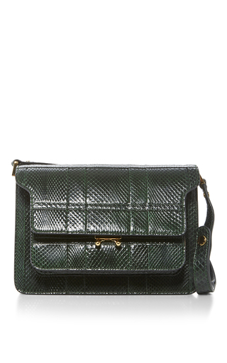 Medium marni green python trunk bag  2