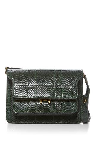 Medium marni green python trunk bag  2