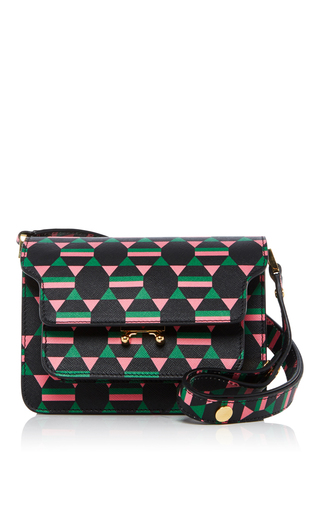 Medium marni black printed trunk bag