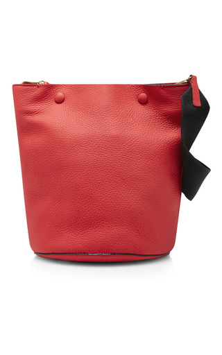 Medium marni pink leather shoulder bag