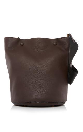 Medium marni brown leather shoulder bag 2