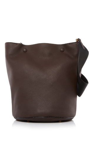 Medium marni brown leather shoulder bag 2