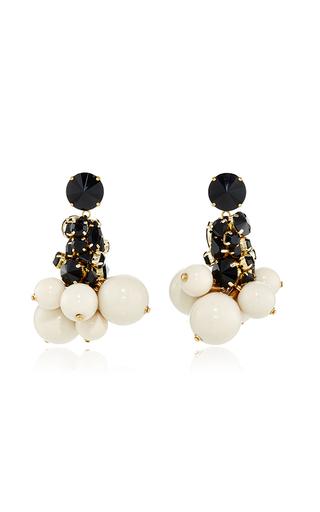 Medium marni white strass drop earring