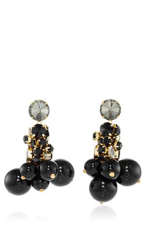 Medium marni black strass drop earring 2