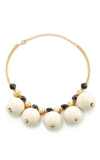Medium marni white strass necklace