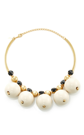 Medium marni white strass necklace
