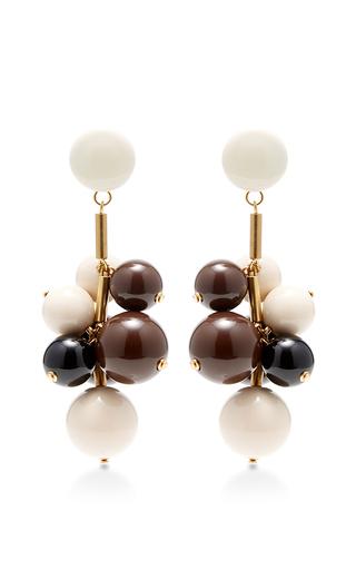 Medium marni gold beaded drop earrings