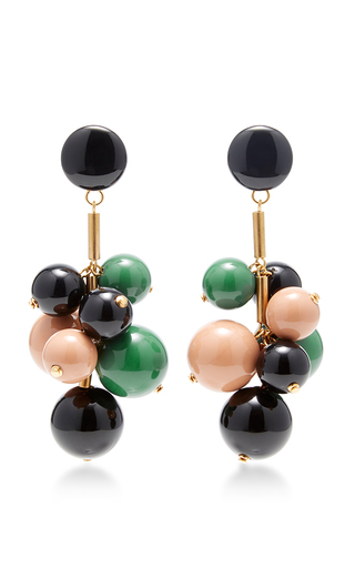 Medium marni green beaded drop earrings 2