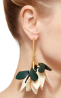 Leather Drop Earrings by MARNI Now Available on Moda Operandi