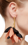 Leather And Brass Earrings by MARNI Now Available on Moda Operandi