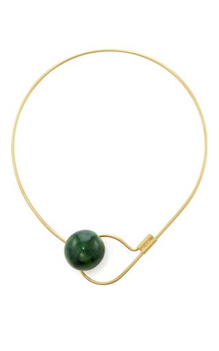 Medium marni green horn necklace