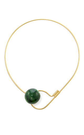Medium marni green horn necklace