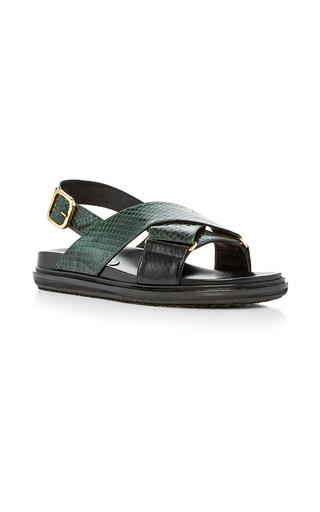 Medium marni green fussbett water snake sandals