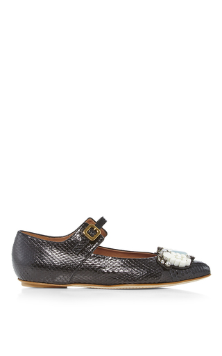 Embellished Mary Jane Flats  by MARNI Now Available on Moda Operandi