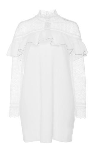 Medium self portrait white long sleeve mini dress