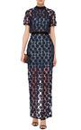 Short Sleeve Maxi Dress by SELF PORTRAIT Now Available on Moda Operandi