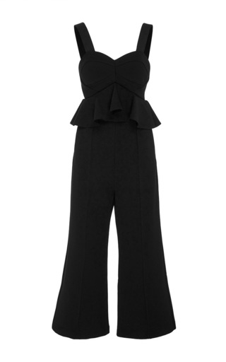 Medium self portrait black sleeveless jumpsuit
