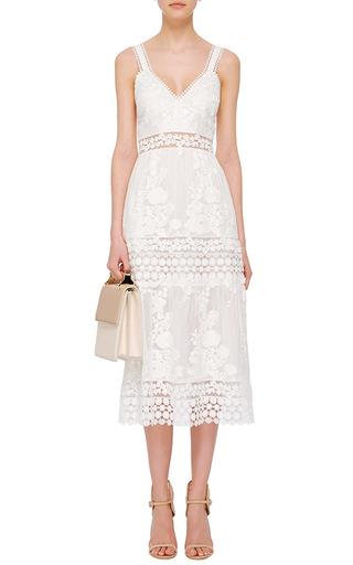 Sleeveless Midi Dress by SELF PORTRAIT Now Available on Moda Operandi