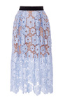 Floral Lace Midi Skirt by SELF PORTRAIT Now Available on Moda Operandi