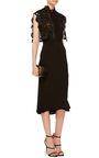 Lace Cape Midi Dress by SELF PORTRAIT Now Available on Moda Operandi