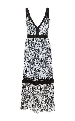 Medium self portrait black white sleeveless midi dress 3