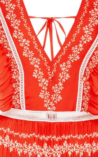 Ruffle Sleeve Maxi Dress by SELF PORTRAIT Now Available on Moda Operandi