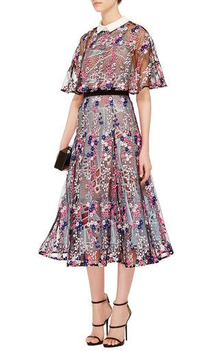 Collard Midi Dress by SELF PORTRAIT Now Available on Moda Operandi