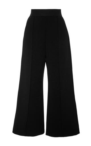 Medium self portrait black pleated culotte