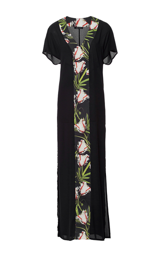 Medium lenny black tulip paneled maxi dress