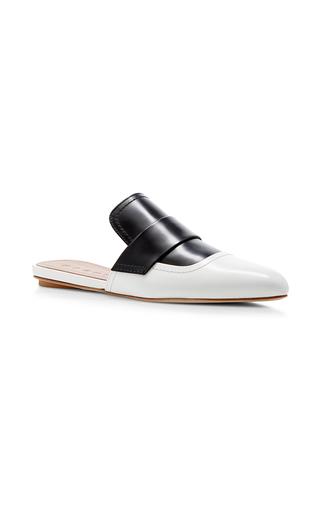 Medium marni black white sabot two toned slides