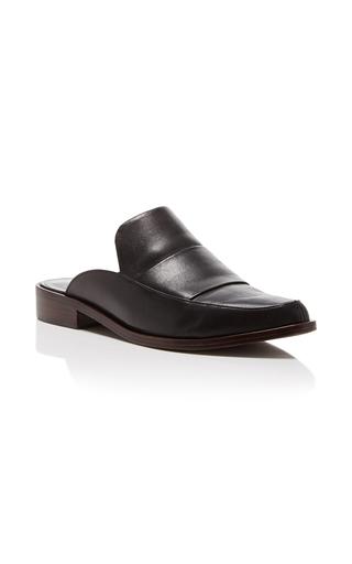 Medium tibi black denni leather mule