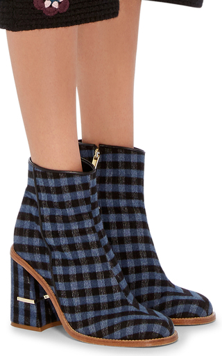 Nora Gingham Ankle Boots by TIBI Now Available on Moda Operandi