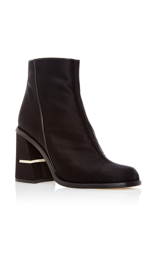 Medium tibi black nora satin bootie