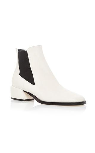 Medium tibi ivory ava calf leather bootie