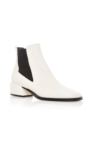 Medium tibi ivory ava calf leather bootie